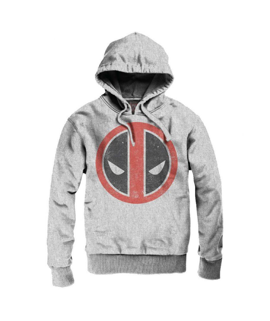 MARVEL - Deadpool - Sweat Distress Logo - Grey (S)_3