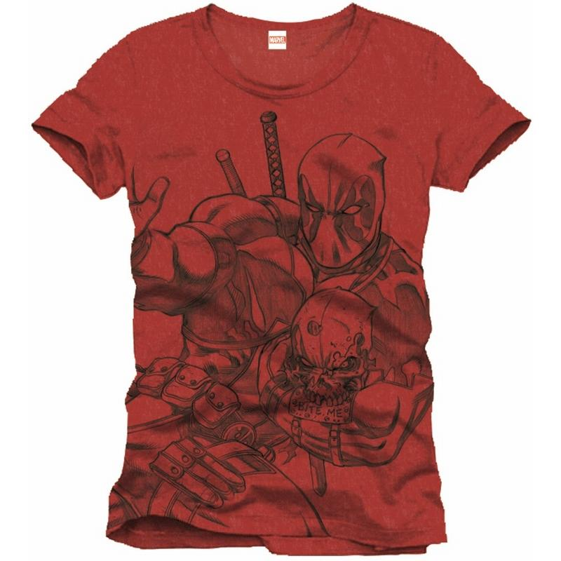 DEADPOOL - MARVEL T-Shirt Scketch Red (S)_1