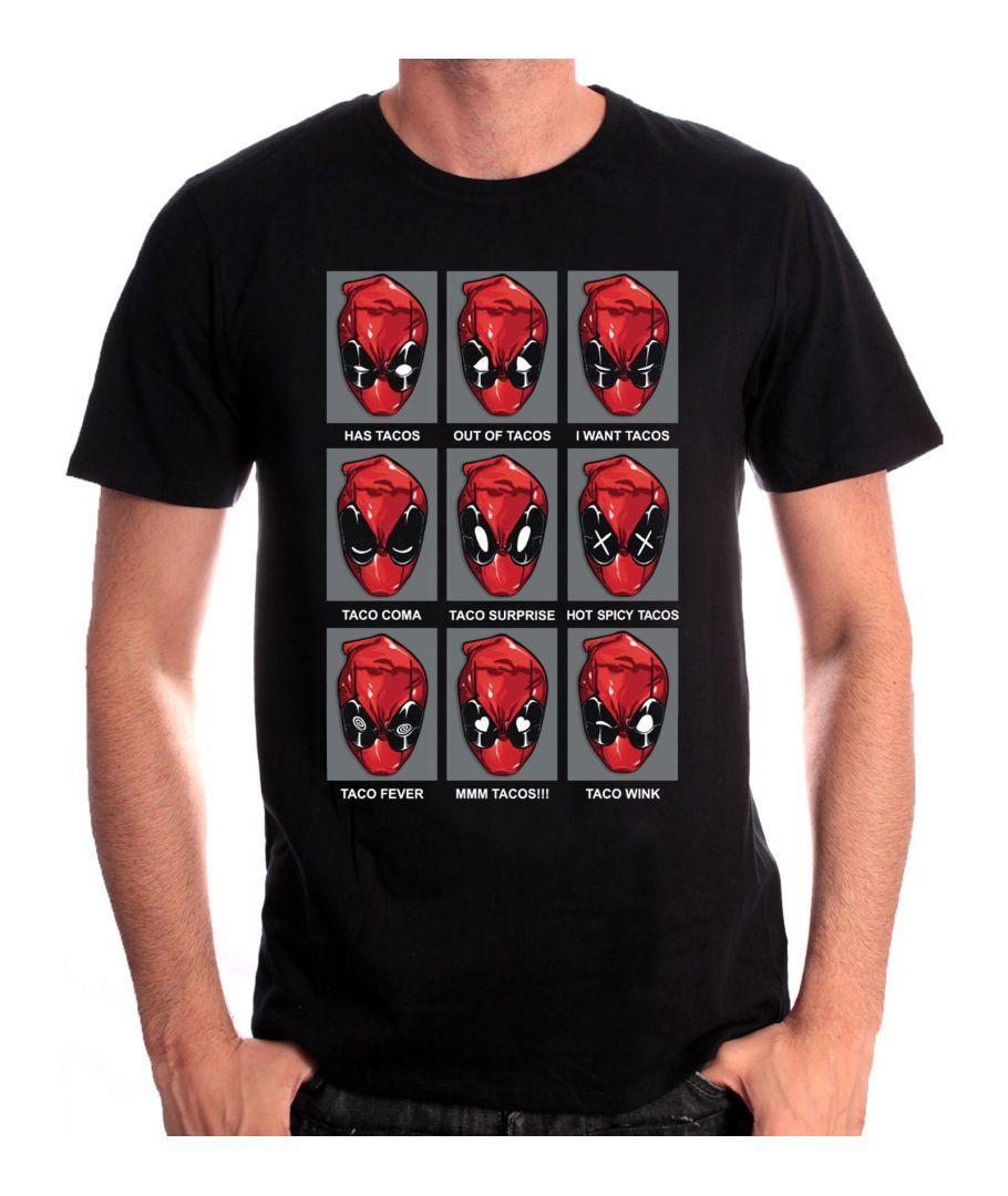 DEADPOOL - MARVEL T-Shirt Tacos Heads (S)_1