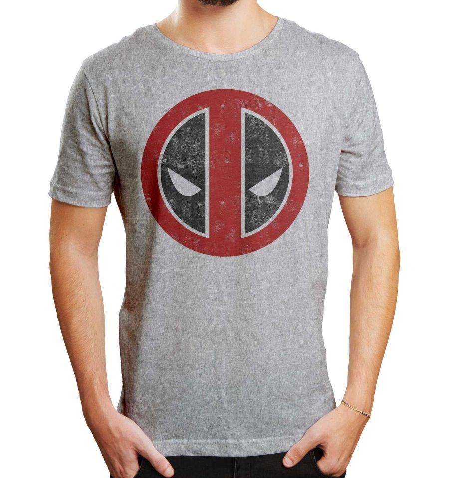 MARVEL - T-Shirt Deadpool Distress Logo (M)