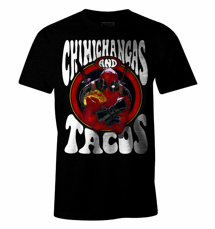 DEADPOOL - MARVEL T-Shirt Chimichangas and Tacos (S)