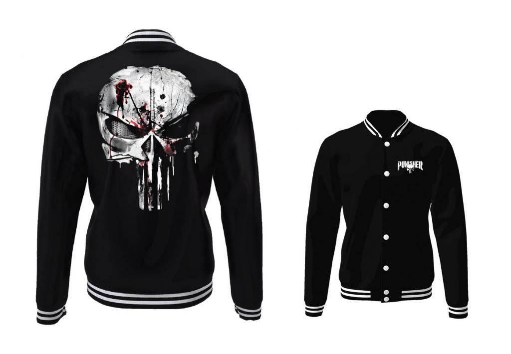 MARVEL - Blouson Teddy Punisher Skull (S)