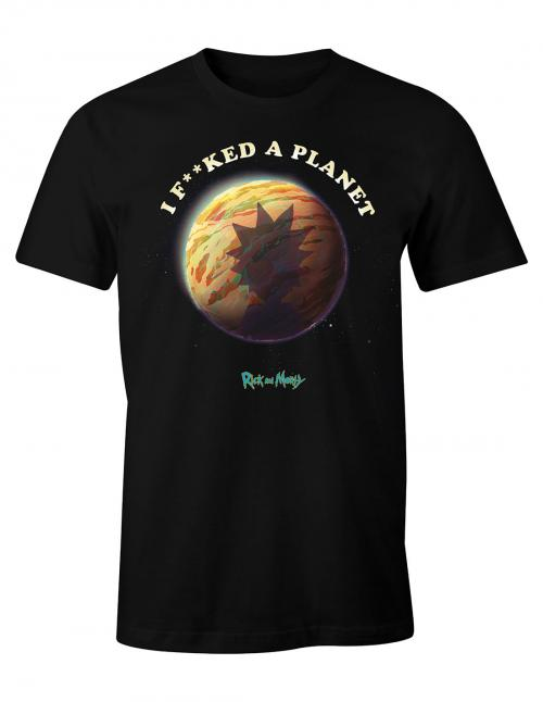 RICK & MORTY - I F**cked A Planet - T-shirt homme (S)