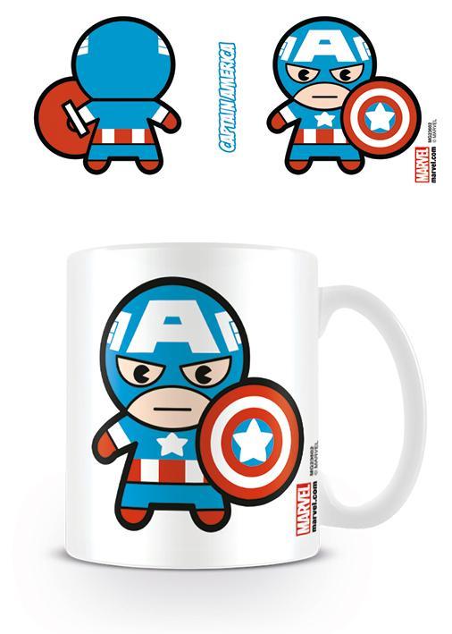 MARVEL - Mug - 315 ml - Kawaii Captain America