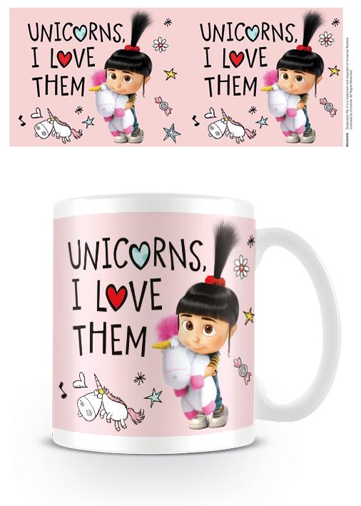 DESPICABLE ME 3 - Mug - 300 ml - Unicorn I Love Them