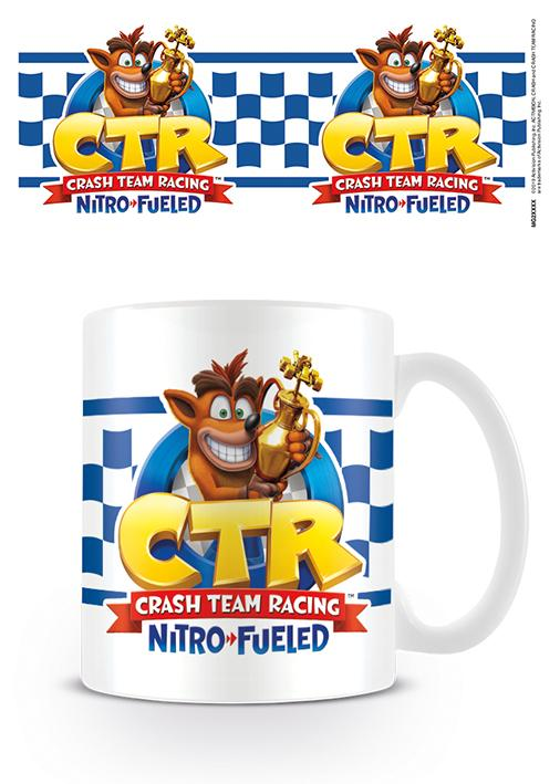 CRASH BANDICOOT - Mug - 315 ml - Checkered Flag