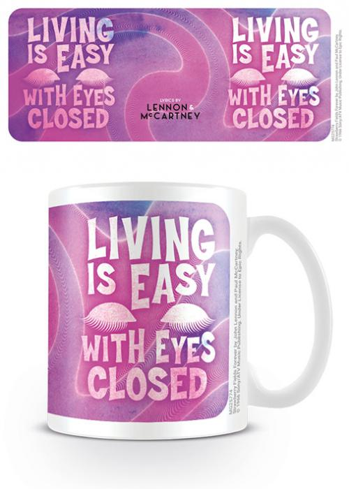 LENNON & MCCARTNEY - Living Is Easy With Eyes Closed - Mug 315ml