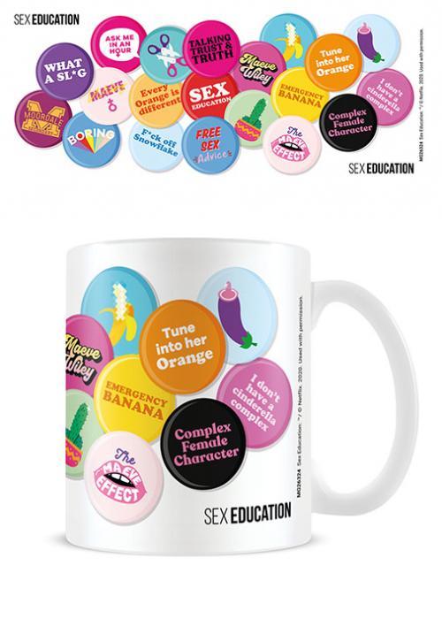 SEX EDUCATION - Push My buttons - Mug 315ml