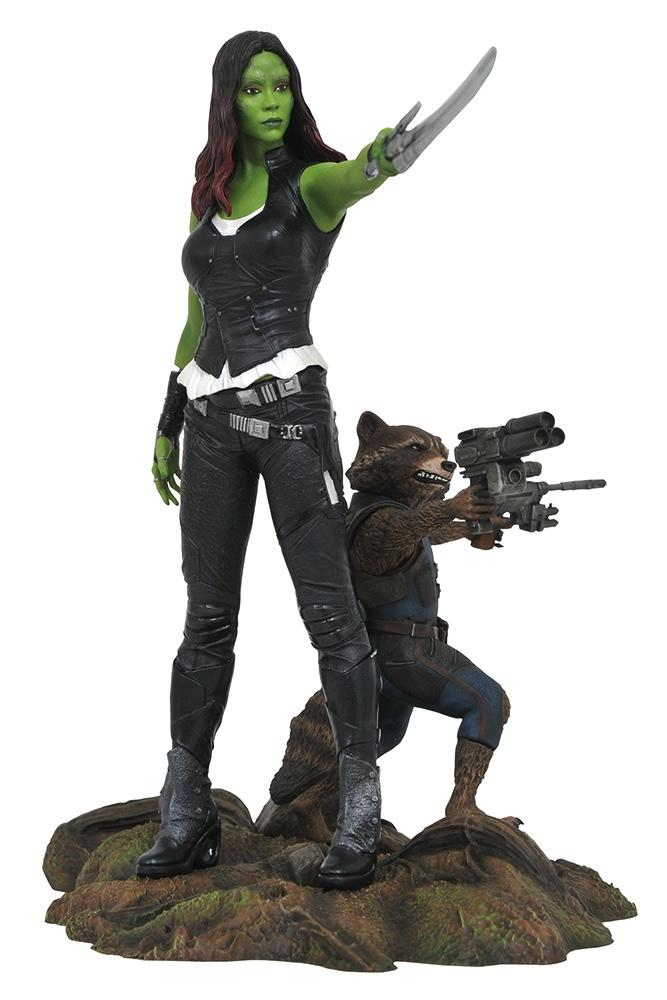 MARVEL GALLERY - Guardians of the Galaxy 2 - Gamora & Rocket - 23cm