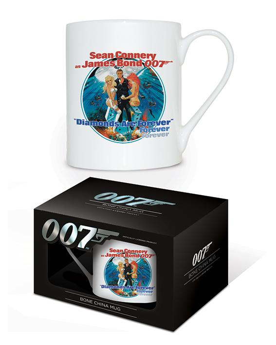 JAMES BOND - Bone China Mug 315 ml - Diamonds Are Forever