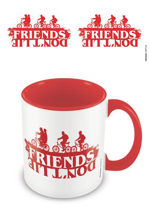 STRANGER THINGS - Coloured Inner Mug - Friends Don't Lie
