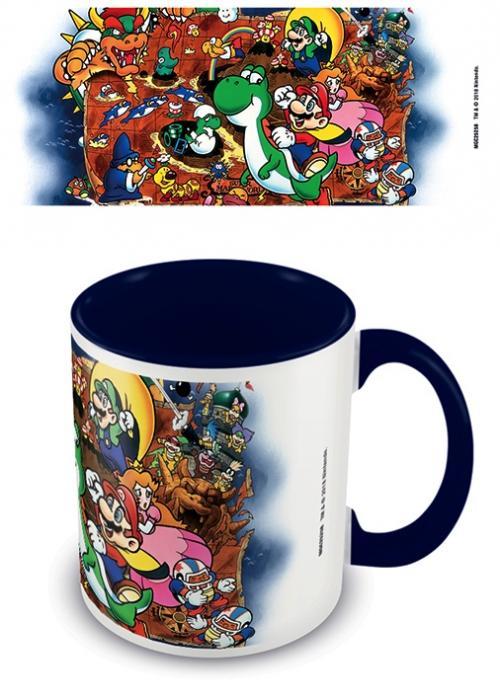 NINTENDO - Super Mario World Blue - Mug intérieur coloré 315ml