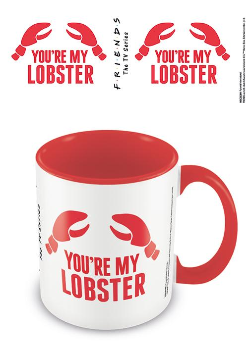 FRIENDS - Coloured Inner Mug - You're my Lobster - Red