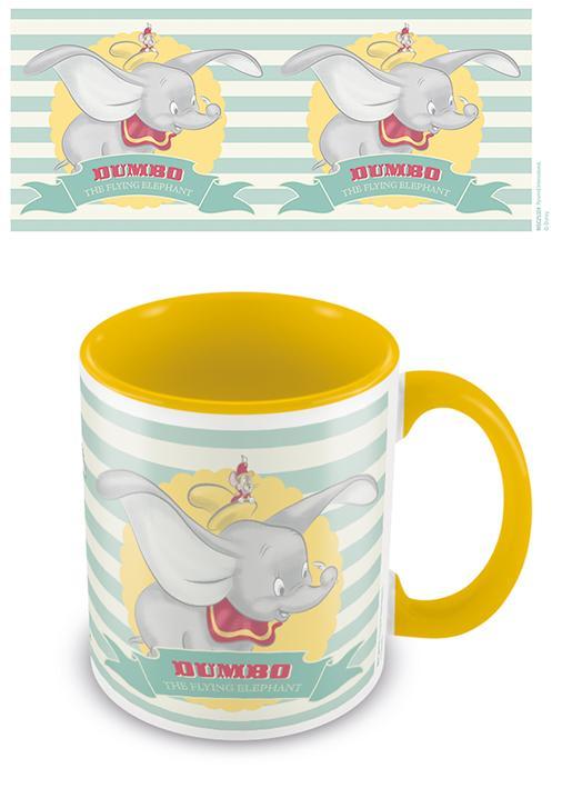 DISNEY - Coloured Inner Mug - Dumbo (The Flying Elephant) Yellow