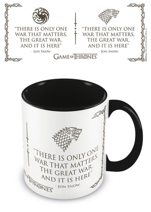 GAME OF THRONES - Coloured Inner Mug - War Black