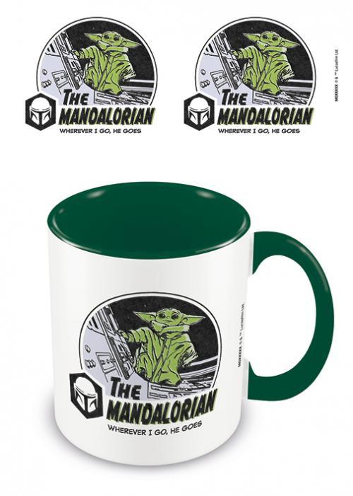 THE MANDALORIAN - Where I Go He Goes - Mug intérieur coloré 315ml