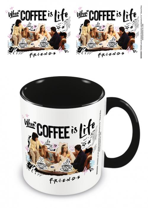 FRIENDS - Coffee is Life - Mug intérieur coloré 315ml