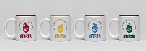 HARRY POTTER - Pack de 4 Tasses Espresso Céramique 150ml - Quidditch