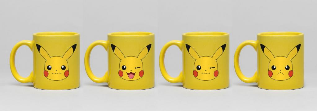 POKEMON - Pack de 4 Tasses Espresso Céramique 150ml - Pikachu