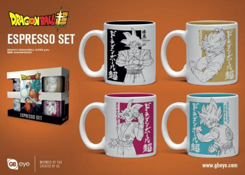 DRAGON BALL SUPER - Set de 4 mini mugs 150ml - Goku