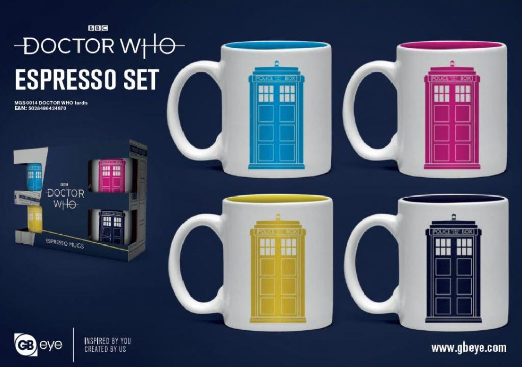 DOCTOR WHO - Set de 4 mini mugs 150ml - Tardis_1