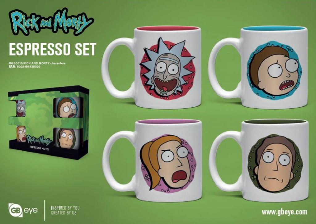 RICK & MORTY - Set de 4 mini mugs 150ml - Personnages_1