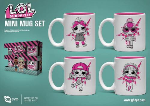 LOL SURPRISE - Set de 4 mini mugs 150ml - Dollsagogo