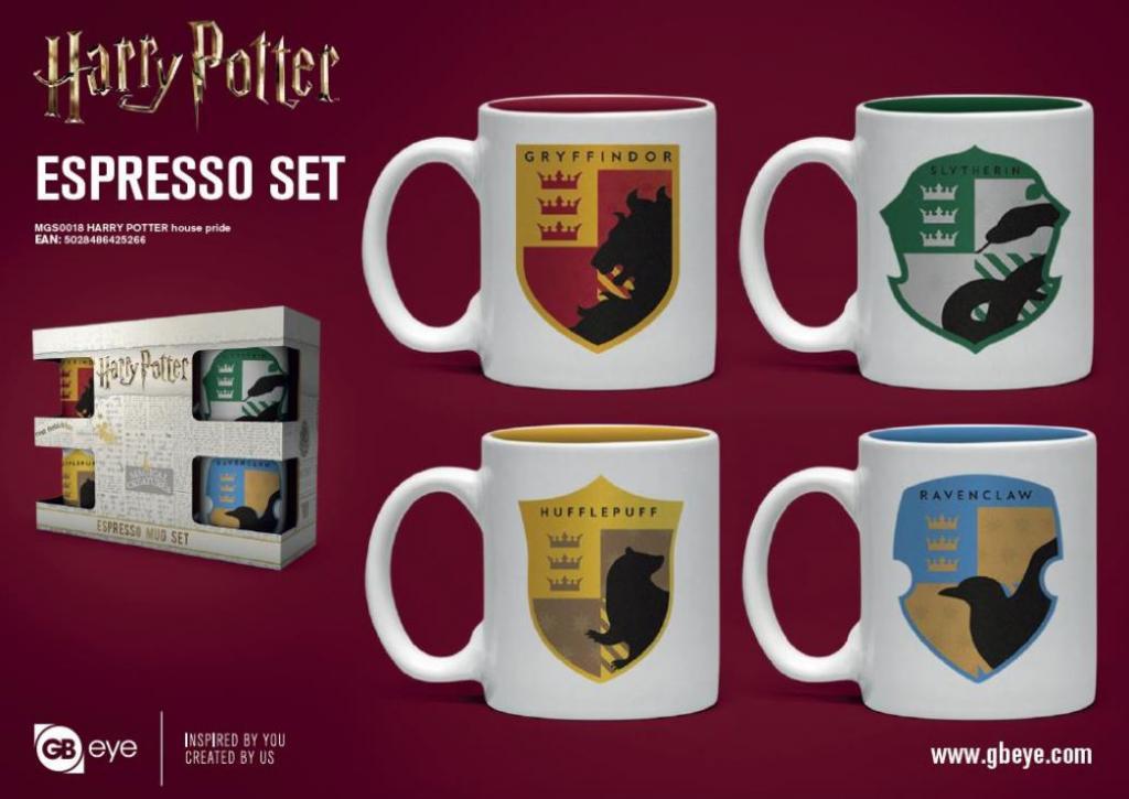HARRY POTTER - Set de 4 mini mugs 150ml - Maisons de Poudlard_1
