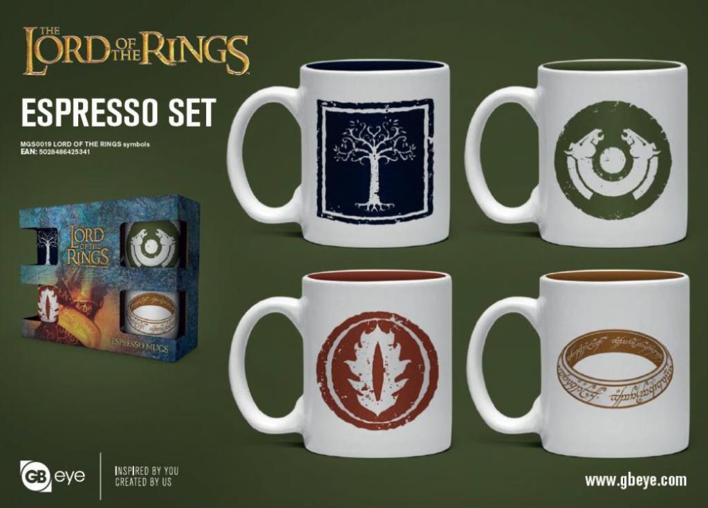 LORD OF THE RINGS - Set de 4 mini mugs 150ml - Symboles_1