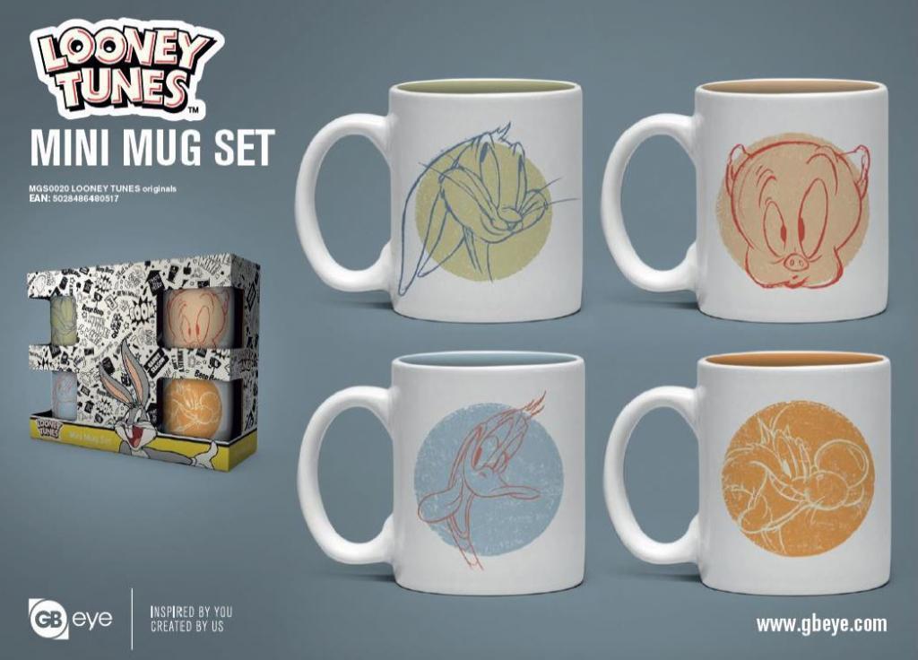 LOONEY TUNES - Set de 4 mini mugs 150ml - Originals_1