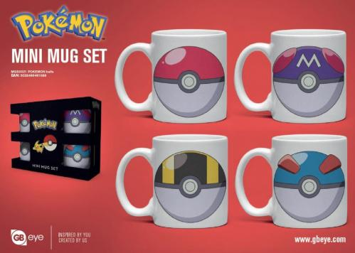 POKEMON - Set de 4 mini mugs 150ml - Poké Ball