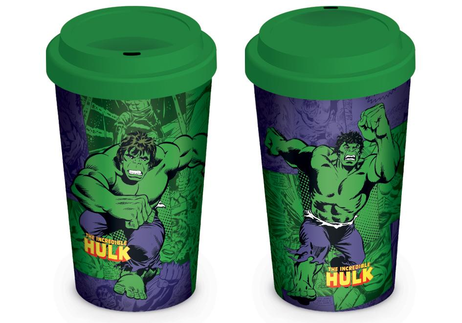 MARVEL - Retro - Travel Mug 340 ml - Hulk Comic