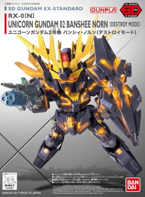 GUNDAM - SD Gundam Ex-Standard 015 Unicorn Banshee 02 - Model Kit 8cm