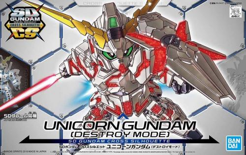 GUNDAM - SD Gundam Cross Silhouette Unicorn Gundam - Model Kit 8cm
