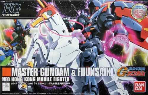 GUNDAM - 1/144 HGFC Master Gundam & Fuunsaiki - Model Kit 13cm