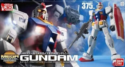 GUNDAM - Mega Size Model 1/48 RX-78-2 Gundam - Model Kit - 37.5cm