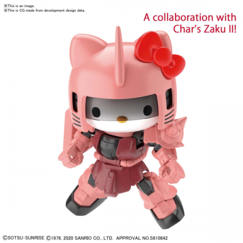 GUNDAM - SD Cross Silhouette Hello Kitty Char's Zaku II - Model Kit