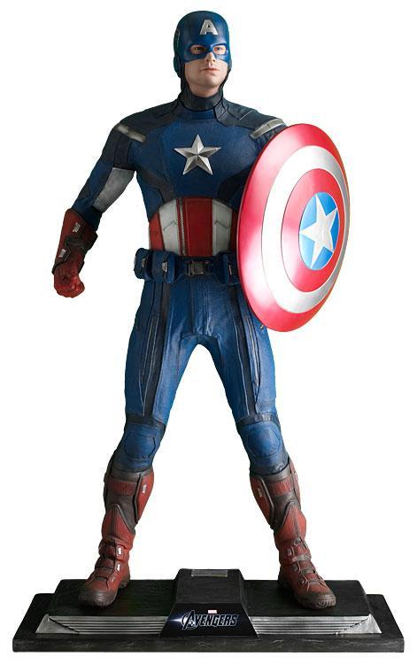 MARVEL - Captain America Avengers Life-Sized Statue - 195cm