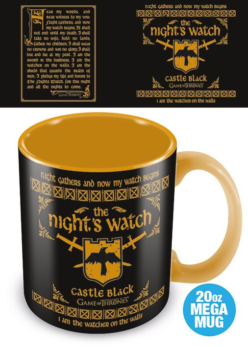 GAME OF THRONES - Mega Mug 568 ml - The Nights Watch