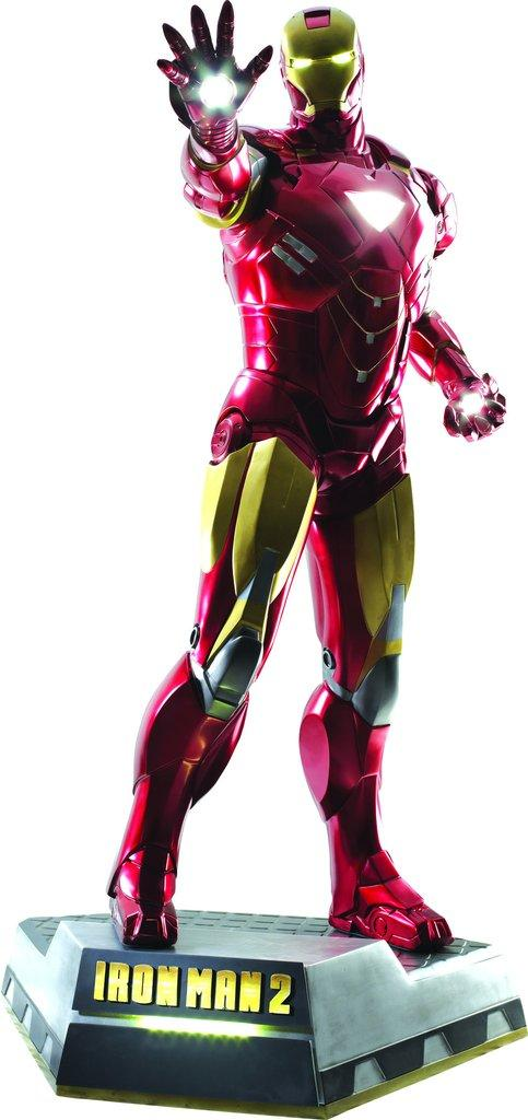 MARVEL - Iron Man 2 Clean Version Life-Sized Statue With LED - 218cm