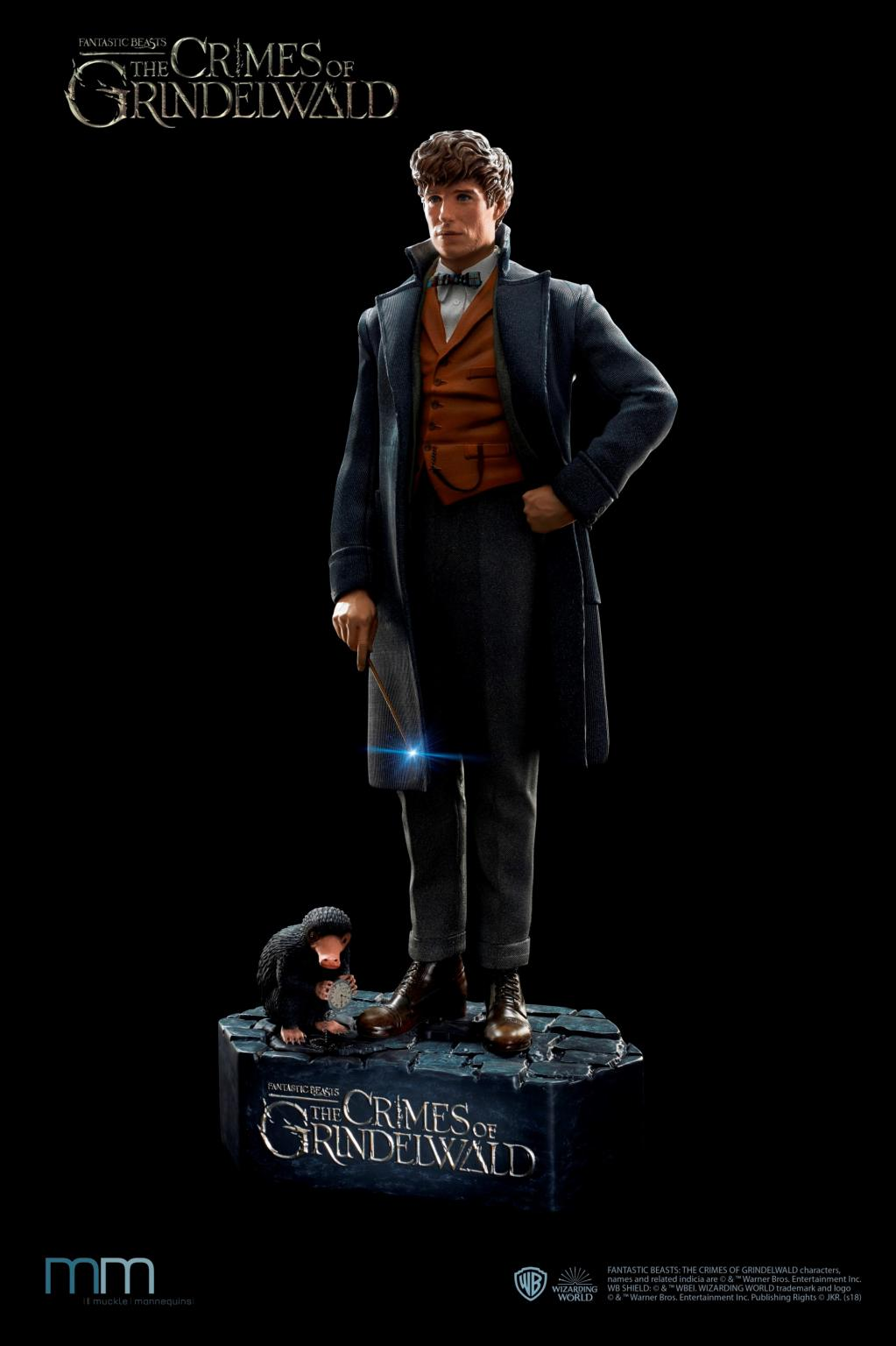 FANTASTIC BEASTS - Newt with Niffler Life-Sized Statue - 220cm_3