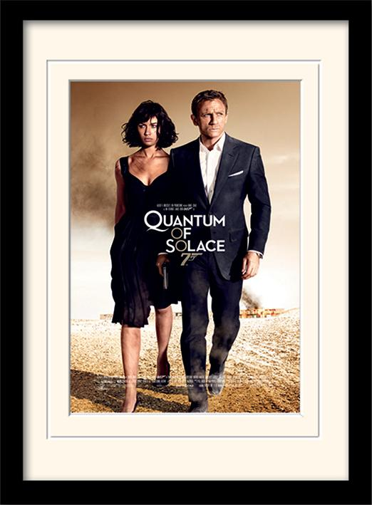 JAMES BOND - Mounted & Framed 30X40 Print - Quantum of Solace