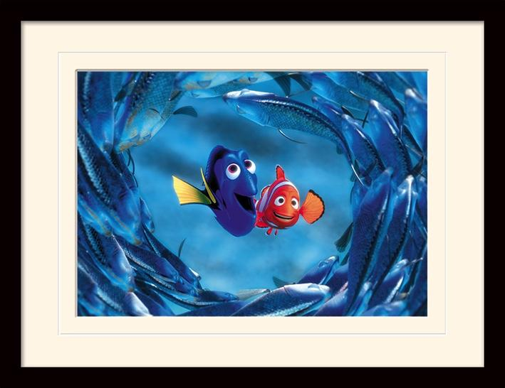 DISNEY - Mounted & Framed 30X40 Print - Finding Nemo : Nemo & Dory