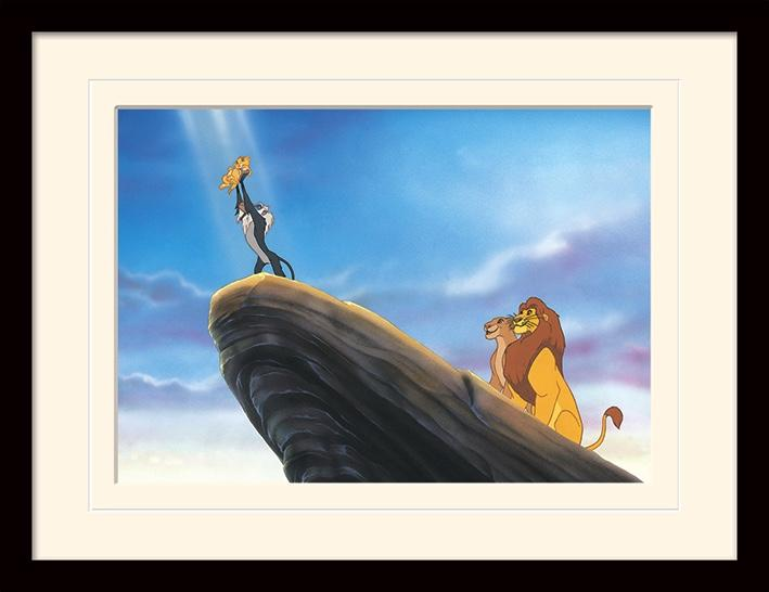 DISNEY - Mounted & Framed 30X40 Print - The Lion King Ledge