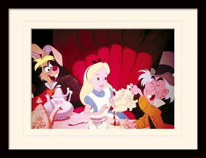 DISNEY - Mounted & Framed 30X40 Print - Alice Tea Party