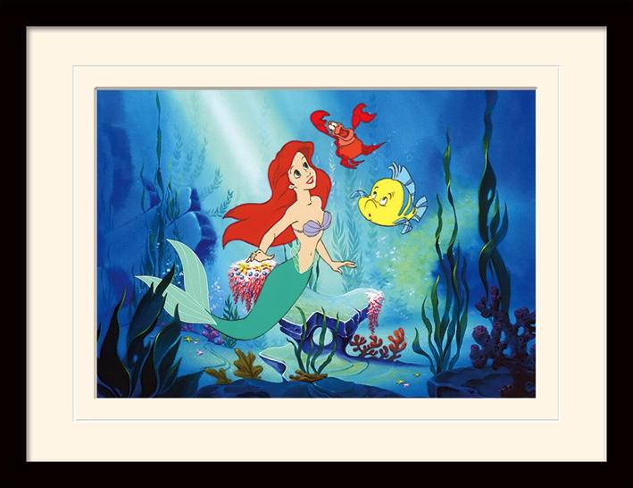 DISNEY - Mounted & Framed 30X40 Print - The Little Mermaid Ariel