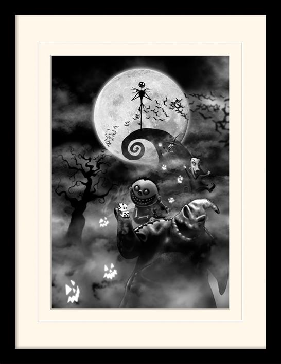NIGHTMARE BEFORE CHRISTMAS - Mounted & Framed 30X40 Print - Oogie