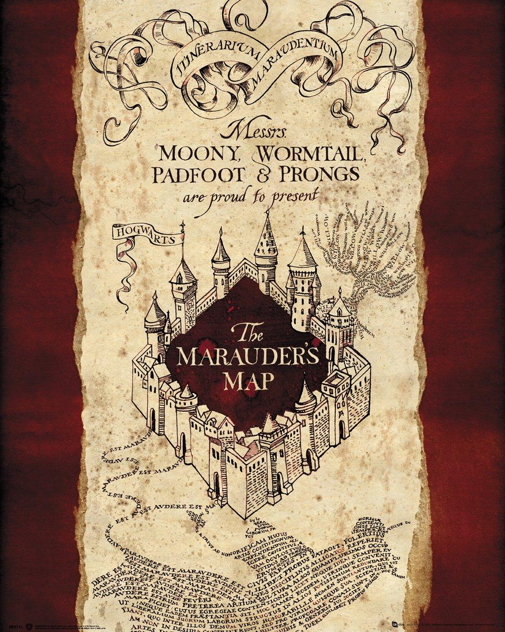HARRY POTTER - Mini Poster 40X50 - Marauders Map