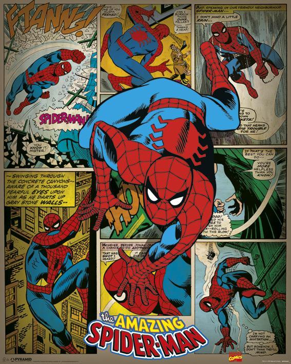 MARVEL - Mini Poster 40X50 - Comics Spider-Man Retro