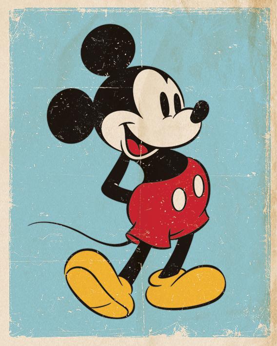 DISNEY - Mini Poster 40X50 - Mickey Mouse Retro